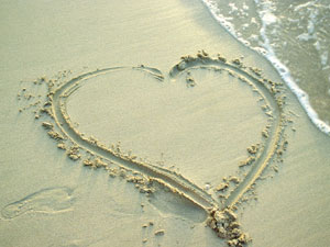 Heart on Sand Wallpaper
